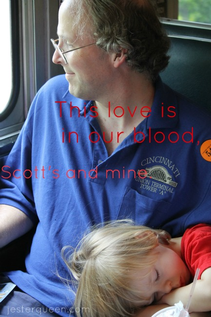 This love is in our blood, Scott's and mine.