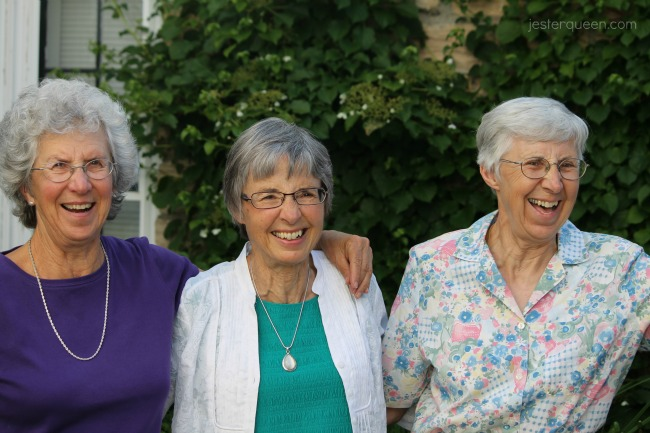 Three sisters laughing