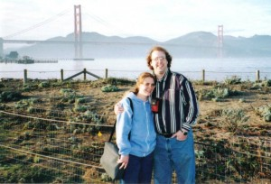 Yes, these are pictures from the exact day we were lost, earlier in the day. You can't see the San Francisco on my jacket. But I still own and use that jacket.